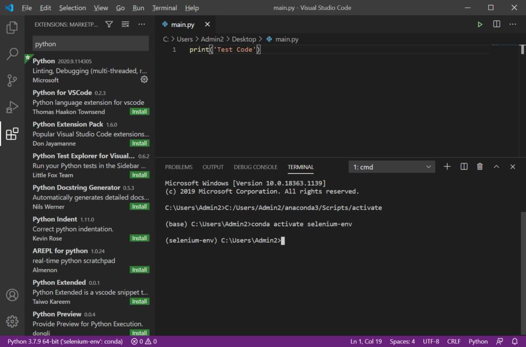 Python Anaconda VSCode39