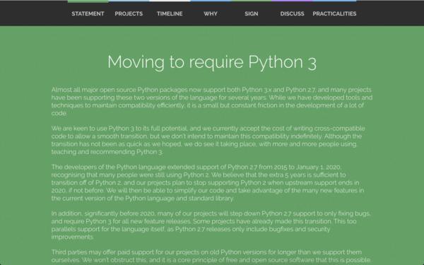 Python2系 サポート終了