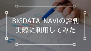 BIGDATA NAVI 評判