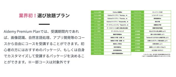 Aidemy Premium Plan コース