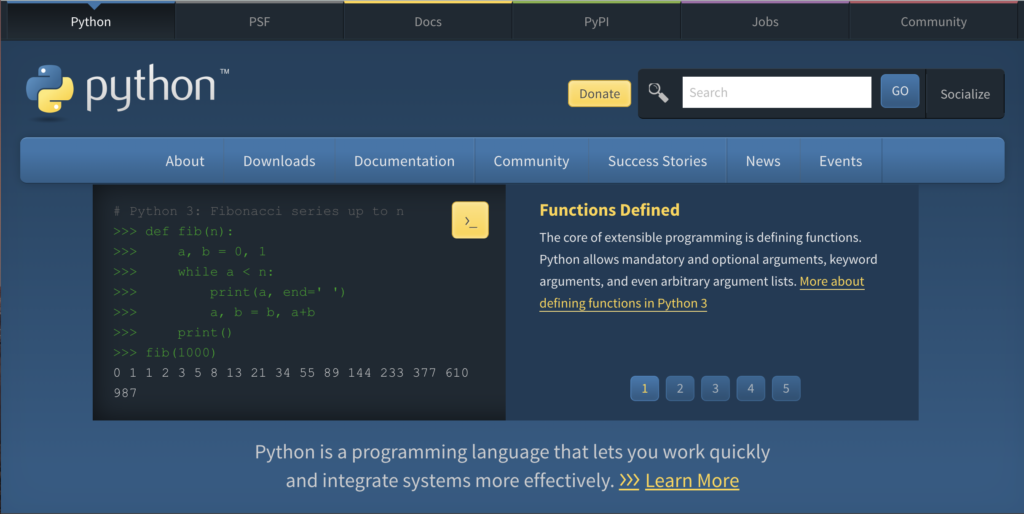 Python 環境構築